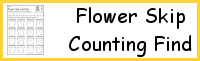 Flower Skip Counting Find