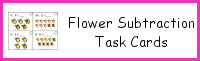 Flower Subtraction Task Cards