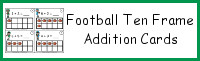 Football Ten Frame Addition Cards