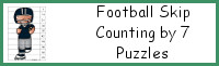 Football Skip Counting by 7 Puzzles