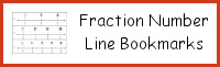 Fraction Number Line Bookmarks