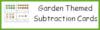 Garden Themed Subtraction Cards