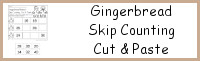 Gingerbread Skip Counting Cut & Paste