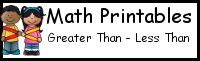 Greater Than - Less Than Printables