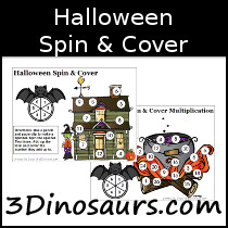Halloween Spin & Cover Math