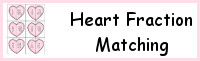 Heart Fraction Matching Printable