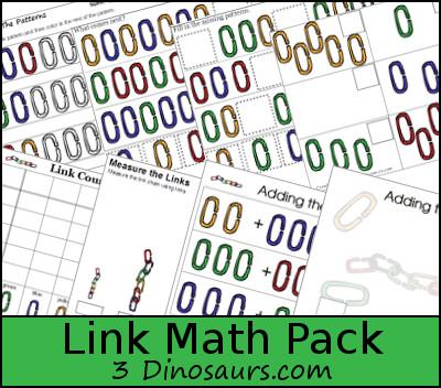 Free Link Theme Math Pack - 3Dinosaurs.com