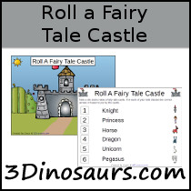 Roll a Fairy Tale Castle Math Printable