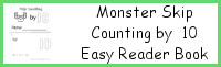 Monster Skip Counting by 10 Easy Reader Book