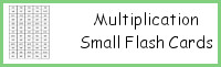 Multiplication Small Flash Cards