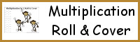 Multiplication Roll & Cover Printable