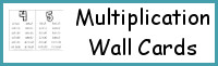 Multiplication Wall Cards: 2 Types