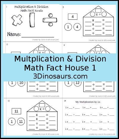 Multiplication & Division Math Fact Books