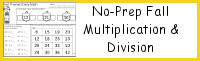 No-Prep Fall Themed Multiplication & Division