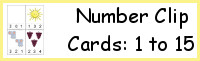 Number Clip Cards 1 to 15