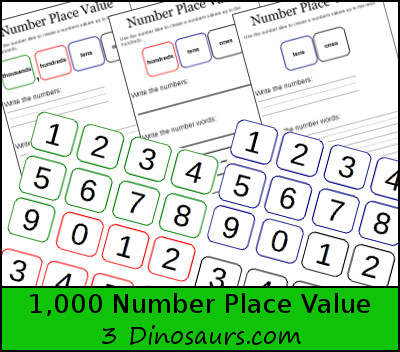 Free 1,000 Number Place Value