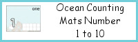 Ocean Counting Mats Number 1 to 10