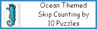 Ocean Themed Skip Counting by 10 Puzzles
