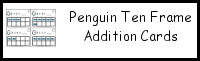 Penguin Ten Frame Addition Cards