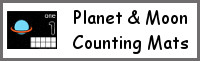 Planet & Moon Themed Counting Mats: 1 to 10