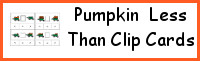 Pumpkin Greater Than - Less Than Clip Cards