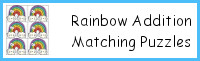 Rainbow Addition Matching Puzzles