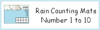 Rain Themed Counting Mats Number 1 to 10