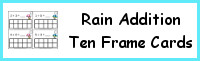 Rain Ten Frame Addition Cards