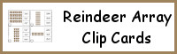 Reindeer Array Clip Cards
