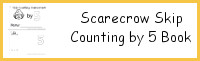 Scarecrow Skip Counting by 5 Easy Reader Book