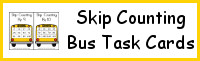 Skip Counting: Bus Theme Task Cards