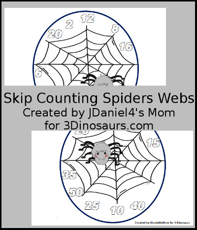 Skip Counting Spider Web's by JDaniel4's Mom Printable