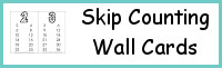 Skip Counting Wall Cards
