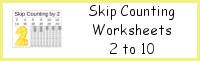 Skip Counting Worksheets Printable