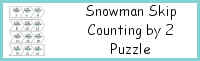 Snowman Skip Counting By 2 Puzzles