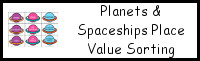 Planet & Spaceship Place Value Sorting Activity
