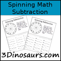 Free Subtraction Spinning 1 to 10 Printable