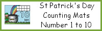 St Patrick's Day Counting Mats Number 1 to 10