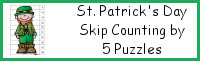 St Patrick's Day Themed Skip Counting by 5 Puzzles