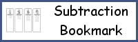 Subtraction Bookmark Printables
