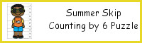 Summer Skip Counting by 6 Puzzles