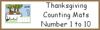 Thanksgiving Counting Mats Number 1 to 10