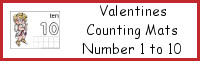 Valentines Counting Mats Number 1 to 10