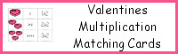 Valentines Multiplication Matching Cards