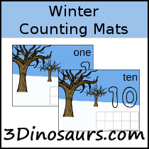 Winter Counting Mats Number 1 to 10