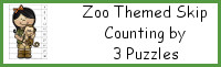 Zoo Themed Skip Counting by 3 Puzzles