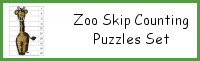 Zoo Skip Counting Puzzles: 1 to 12
