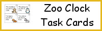 Zoo Clock Task Cards