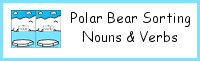 Polar Bear Sorting Noun and Verbs