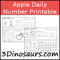 Apple Daily Themed Number Sample